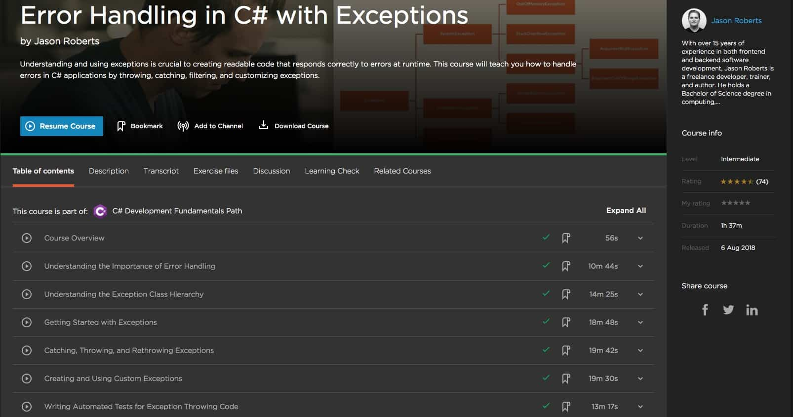 Error Handling in C-sharp with Exceptions