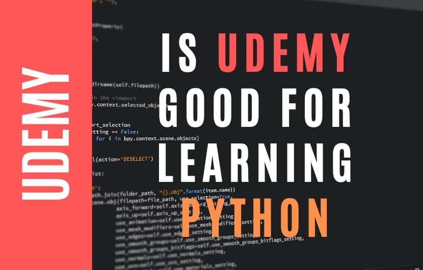 Is Udemy Good for Learning Python