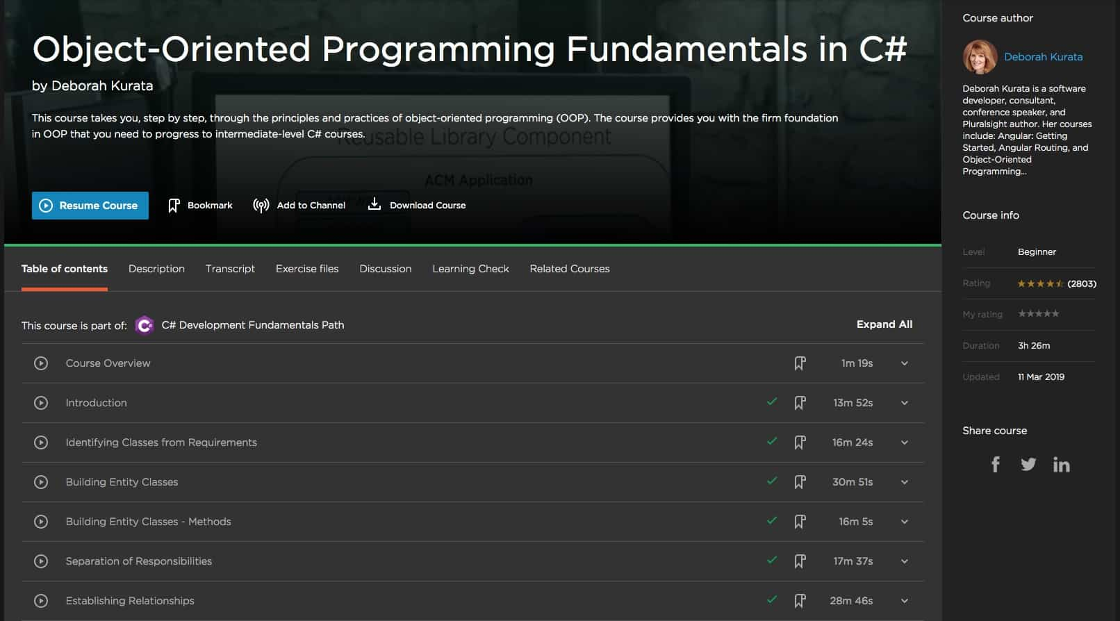 Object-Oriented Programming Fundamentals in C-sharp