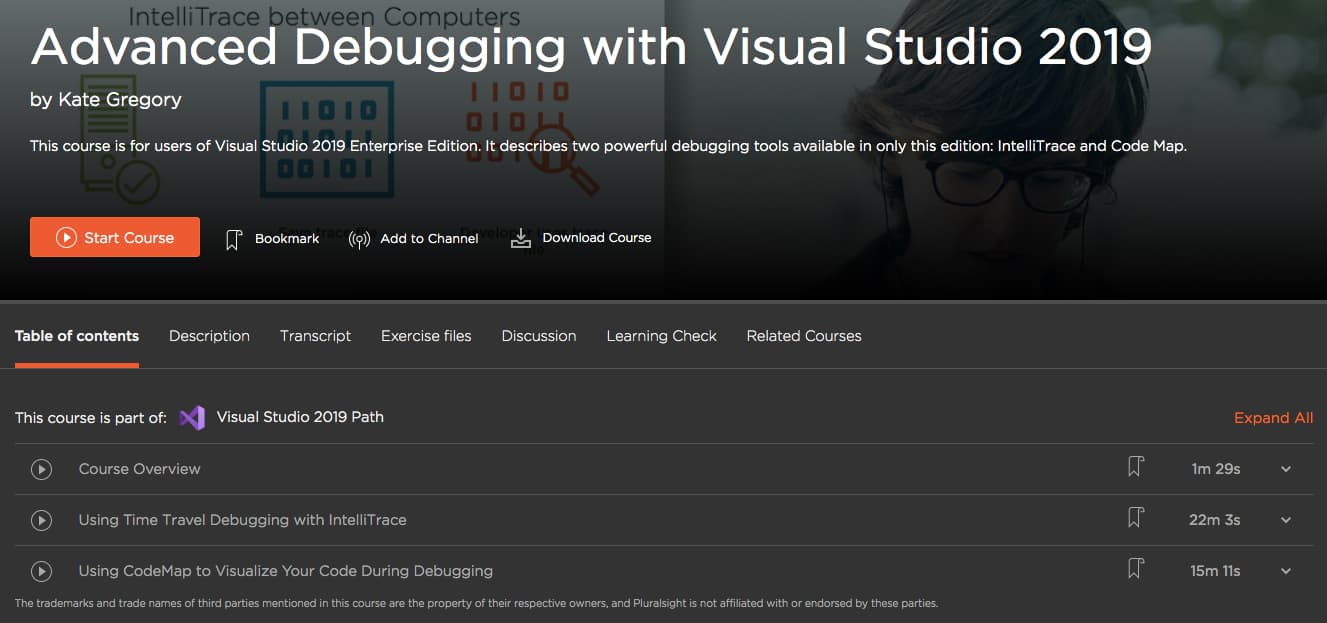Advanced Debugging with Visual Studio 2019
