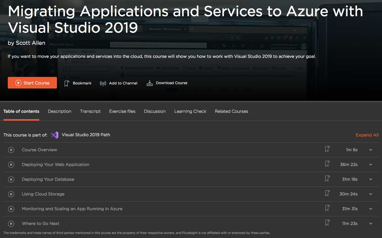 Migrating Applications and Services to Azure with Visual Studio 2019
