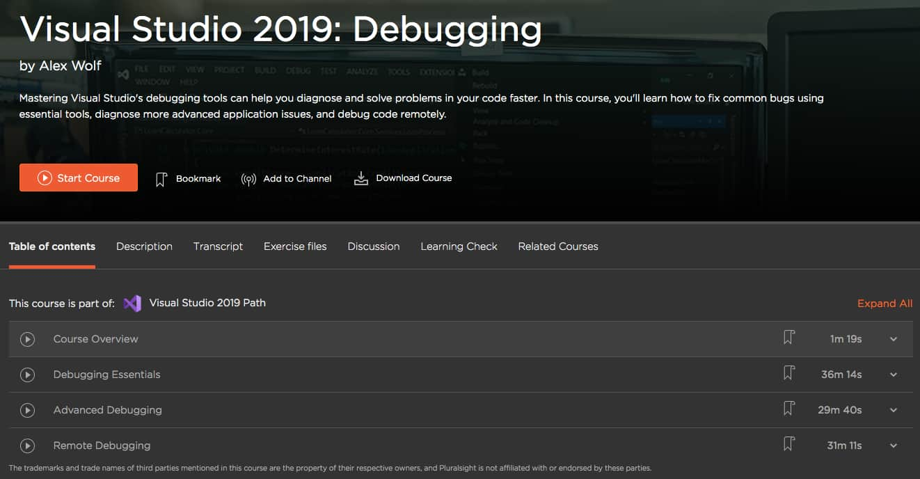 Visual Studio 2019 - Debugging