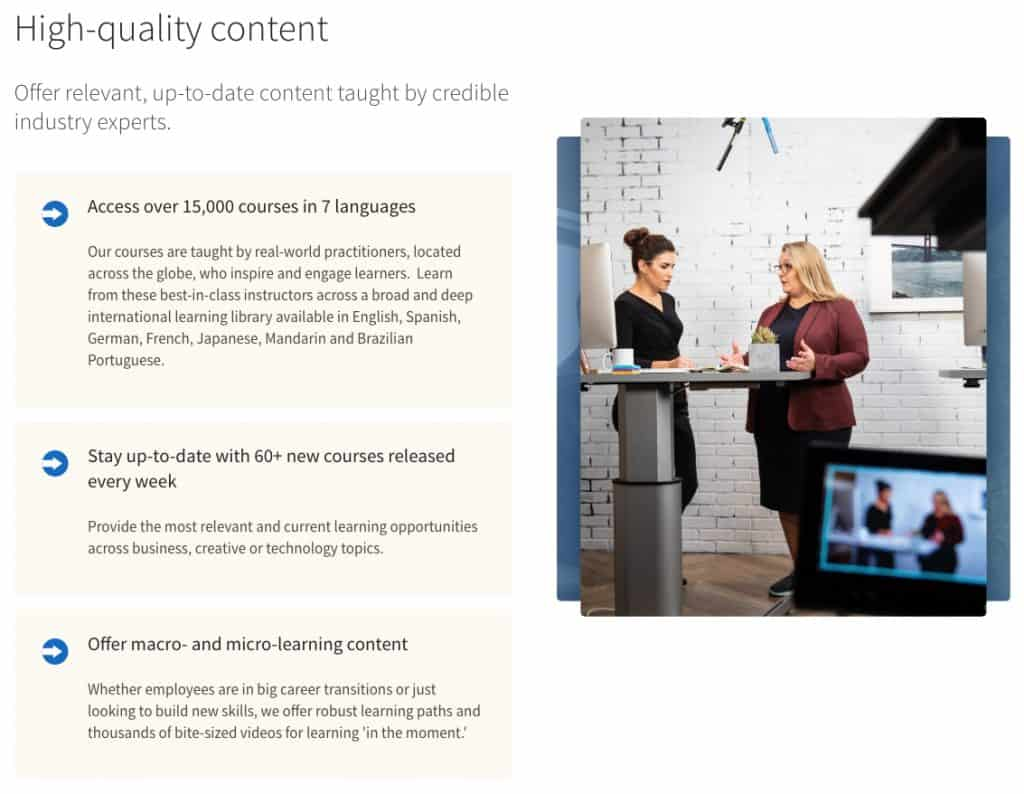 Courses with High-Quality Content