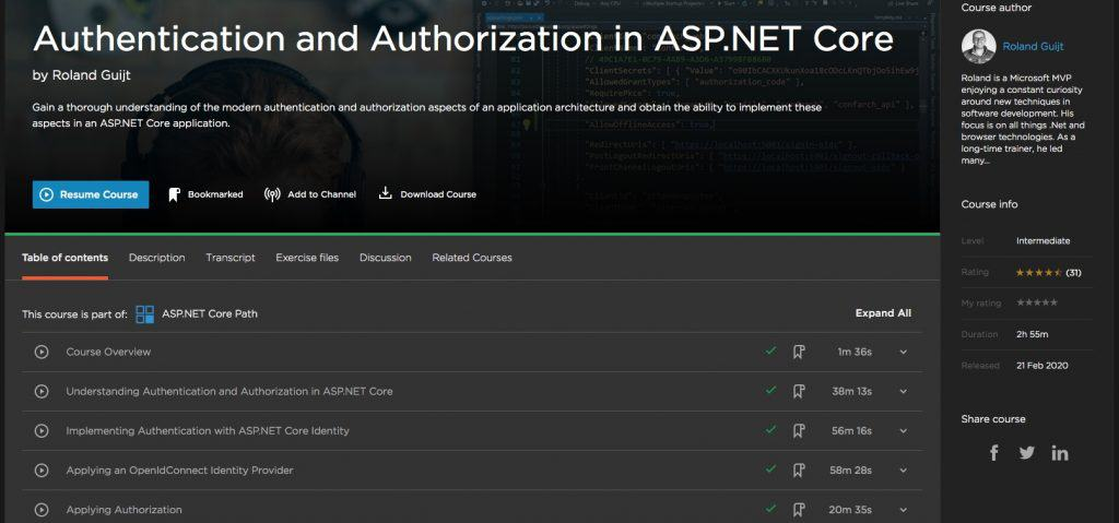 Authentication and Authorization in ASP.NET Core