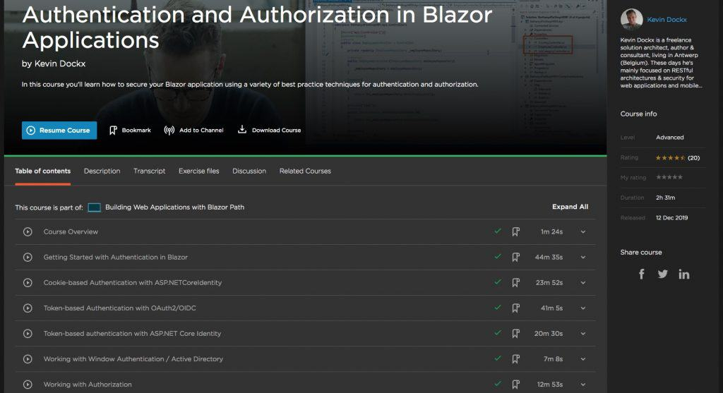 Authentication and Authorization in Blazor Applications