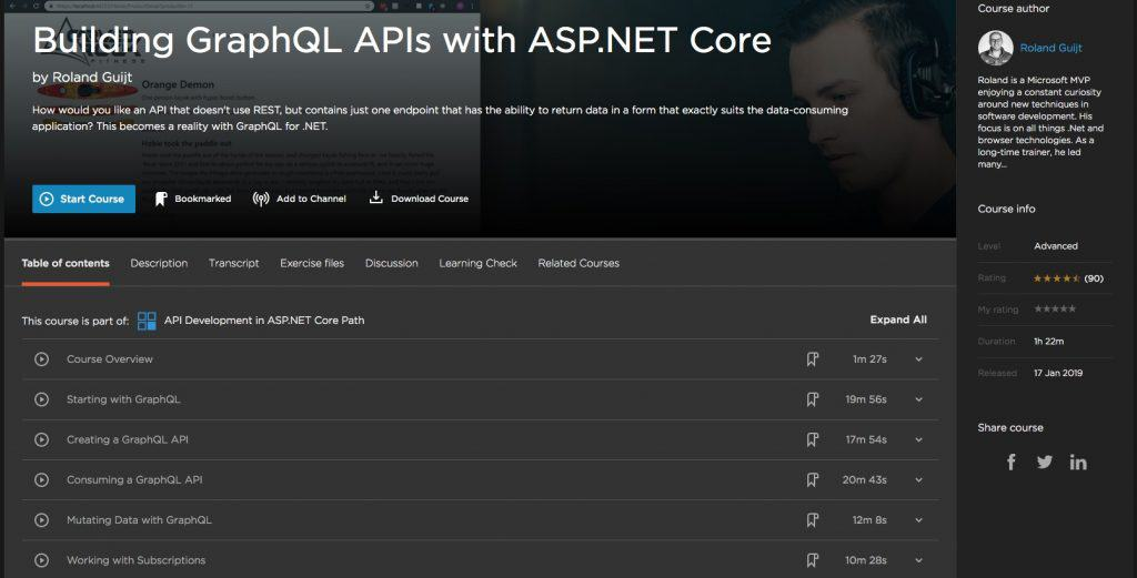 Building GraphQL APIs with ASP.NET Core