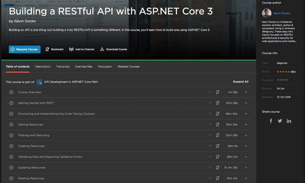 Building a RESTful API with ASP.NET Core 3