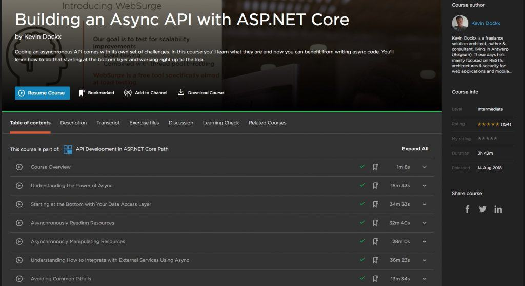 Building an Async API with ASP.NET Core