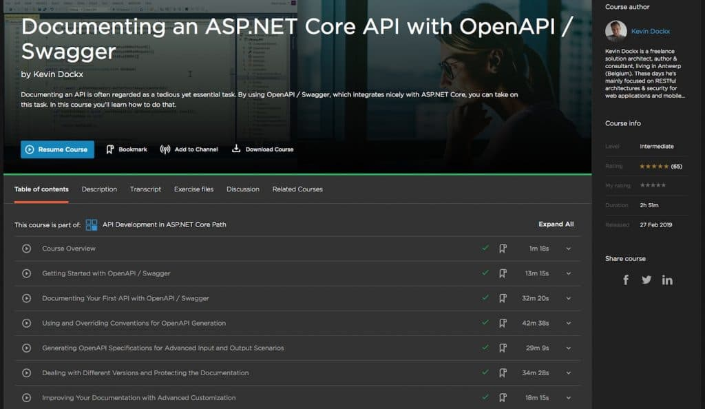 Documenting an ASP.NET Core API with OpenAPI-Swagger