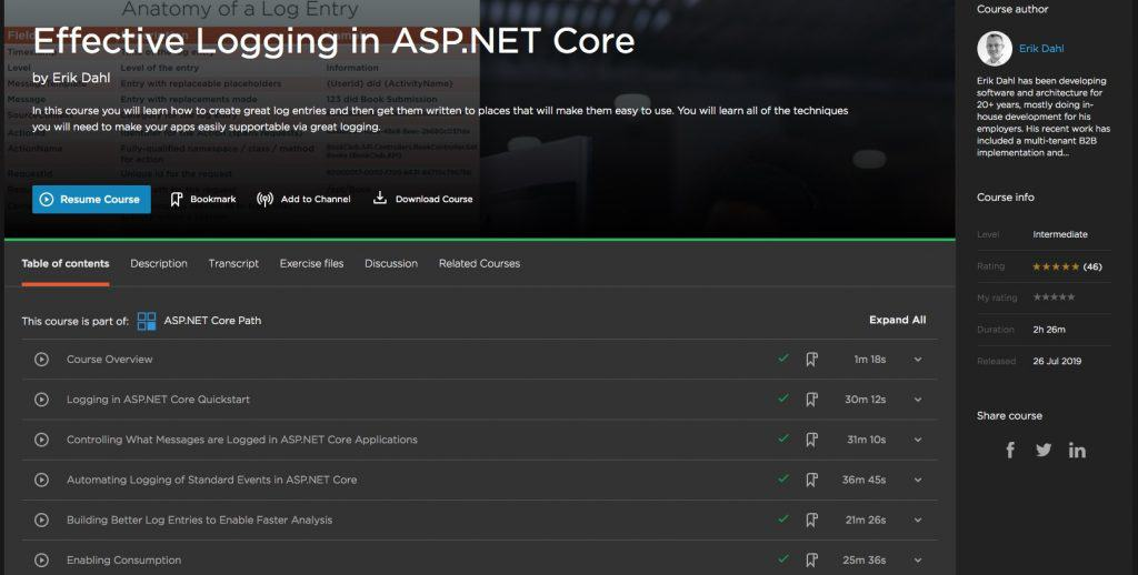 Effective Logging in ASP.NET Core