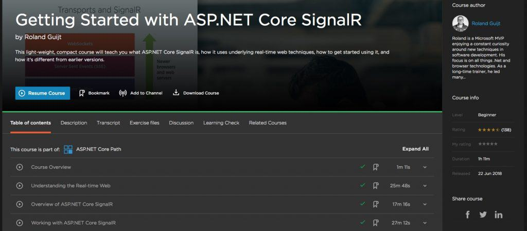 Getting Started with ASP.NET Core SignalR