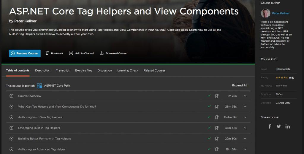 Tag Helpers and View Components