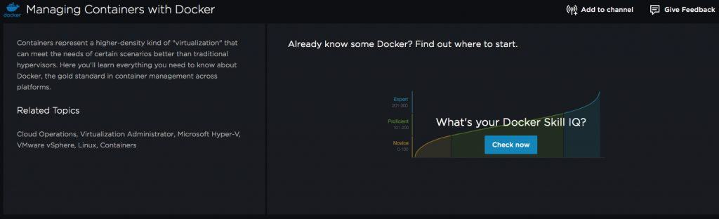 Managing Containers with Docker