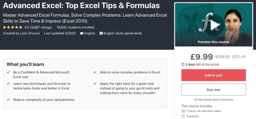 Top Excel Tips & Formulas