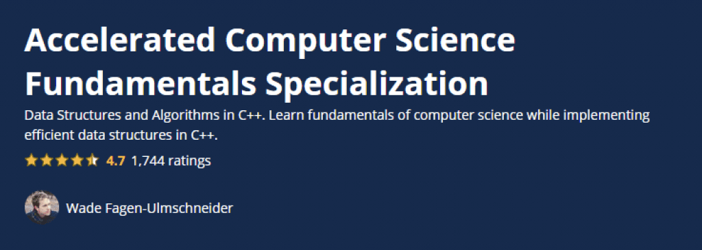 Accelerated Computer Science Fundamentals Specialization