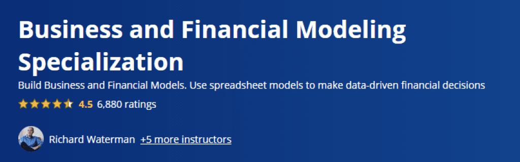 Business and Financial Modeling Specialization