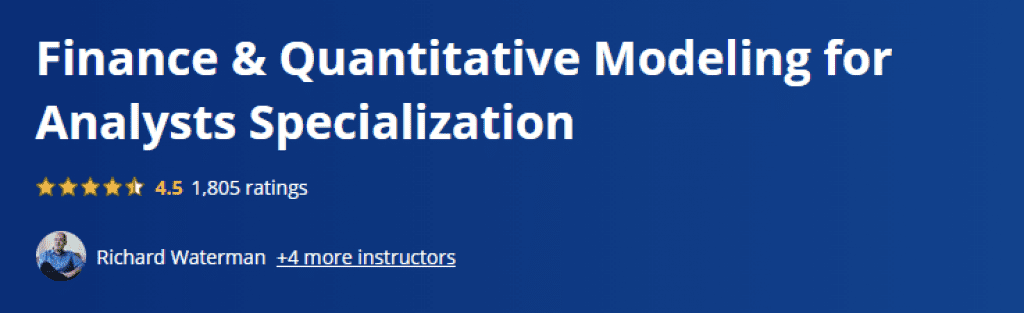 Finance and Quantitative Modeling for Analysts Specialization