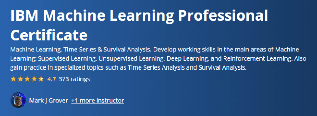 IBM Machine Learning Professional Certificate