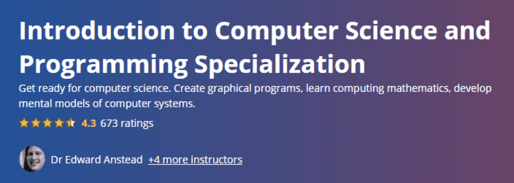 Introduction to Computer Science and Programming Specialization