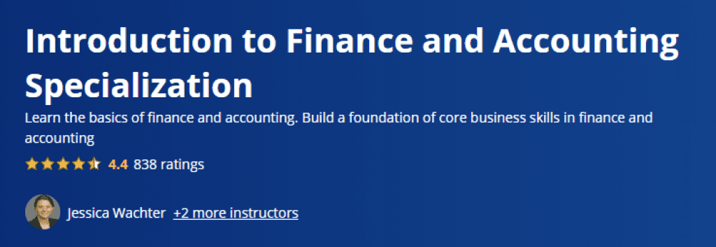 Introduction to Finance and Accounting Specialization