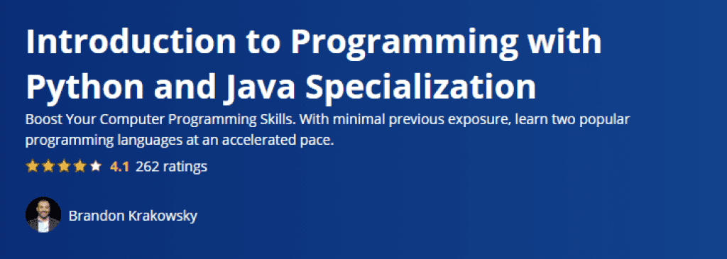 Introduction to Programming with Python and Java Specialization