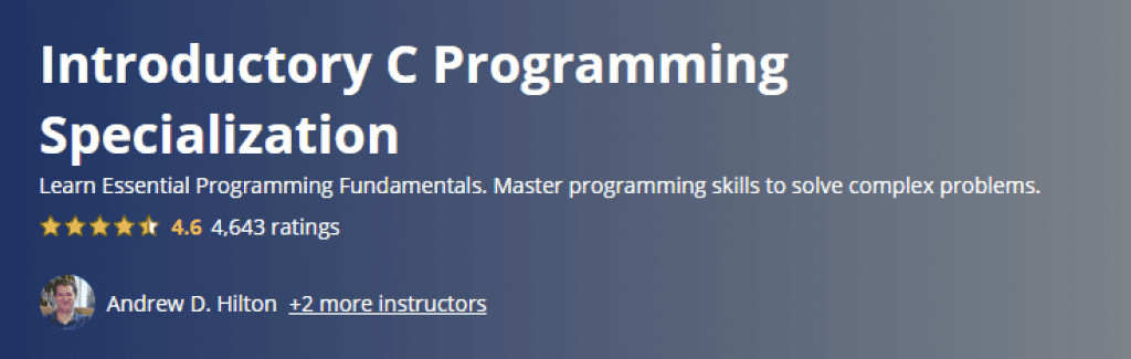 Introductory C Programming Specialization
