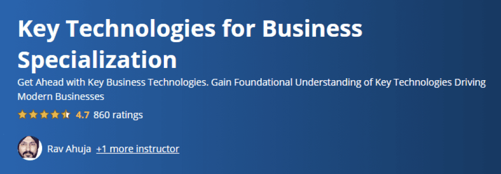 Key Technologies for Business Specialization