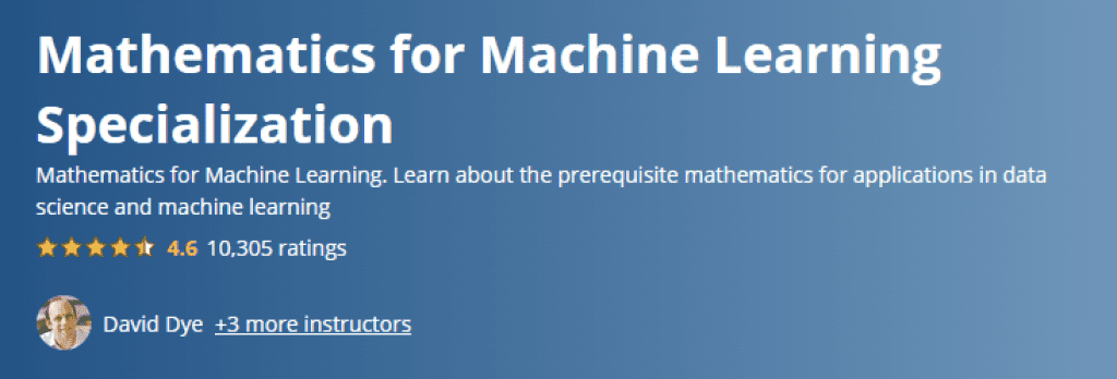 Mathematics for Machine Learning Specialization