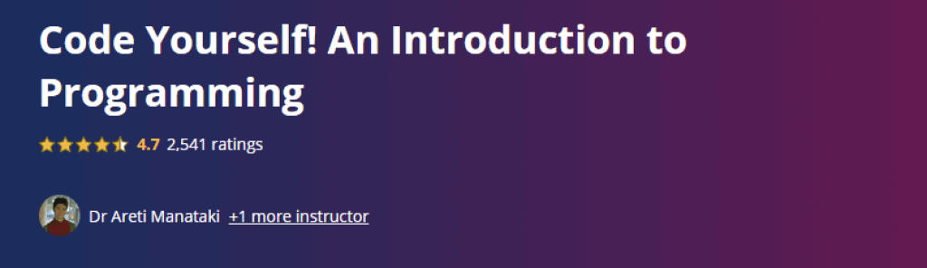 Code Yourself An Introduction to Programming